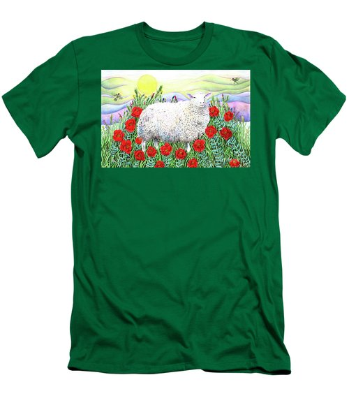 Arrival Of The Hummingbirds Men's T-Shirt (Slim Fit) by Lise Winne