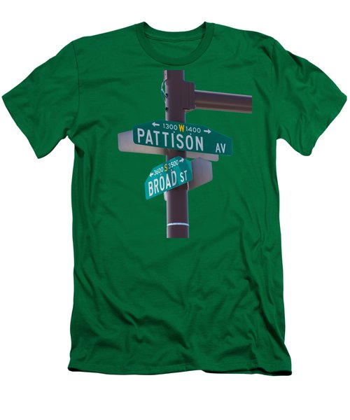 Broad And Pattison Where Philly Sports Happen Men's T-Shirt (Slim Fit)