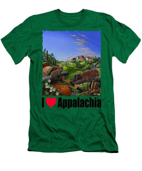 I Love Appalachia - Spring Groundhog Men's T-Shirt (Slim Fit) by Walt Curlee