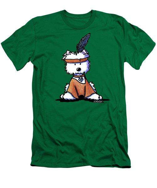 Westie Pocahontas Men's T-Shirt (Athletic Fit)