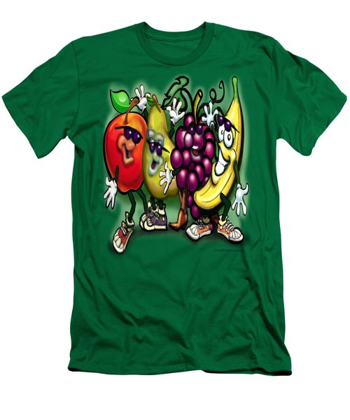 Fruits Men's T-Shirt (Slim Fit) by Kevin Middleton