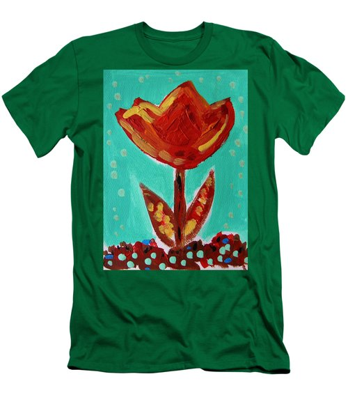 Avis-flowers From The Flower Patch Men's T-Shirt (Slim Fit) by Mary Carol Williams