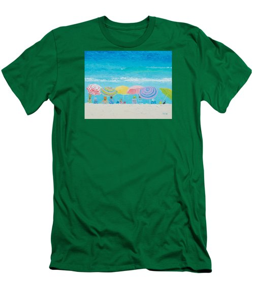 Beach Painting - Color Of Summer Men's T-Shirt (Slim Fit) by Jan Matson