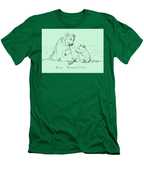 Men's T-Shirt (Slim Fit) featuring the drawing Bear Necessities by Denise Fulmer