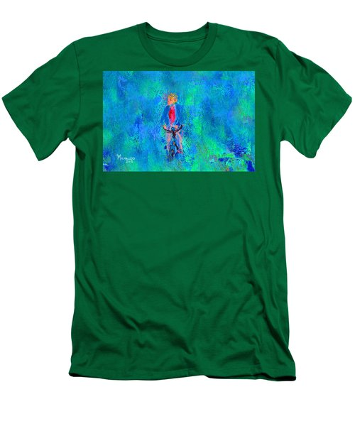 Bicycle Rider Men's T-Shirt (Athletic Fit)
