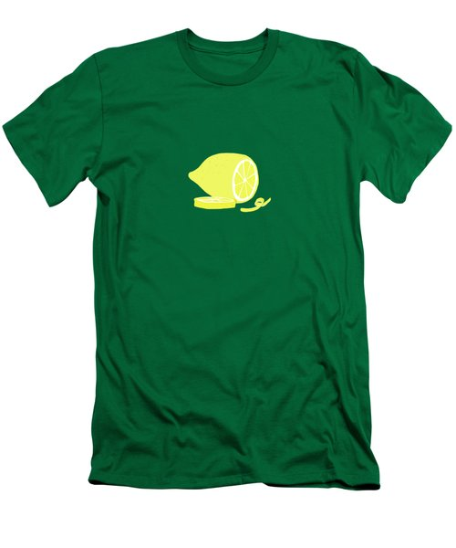 Big Lemon Flavor Men's T-Shirt (Slim Fit) by Little Bunny Sunshine