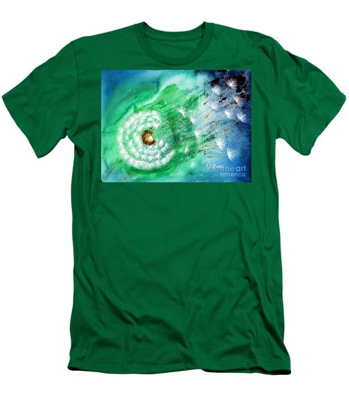 Men's T-Shirt (Slim Fit) featuring the painting Blown Away by Maria Barry