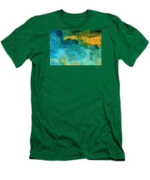 Blue Abstract #5 Men's T-Shirt (Athletic Fit)