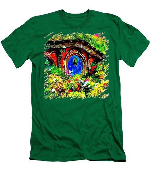 Blue Door Hobbit House-t Shirt Men's T-Shirt (Slim Fit) by Kathy Kelly