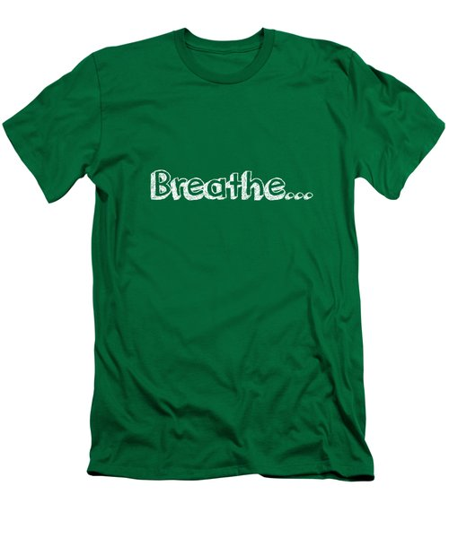 Breathe - Customizable Color Men's T-Shirt (Slim Fit) by Inspired Arts