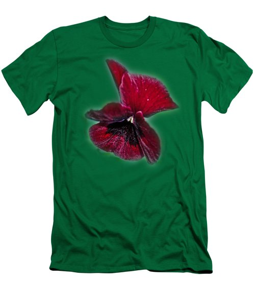 Burgundy Pansy  Tee-shirt Men's T-Shirt (Athletic Fit)