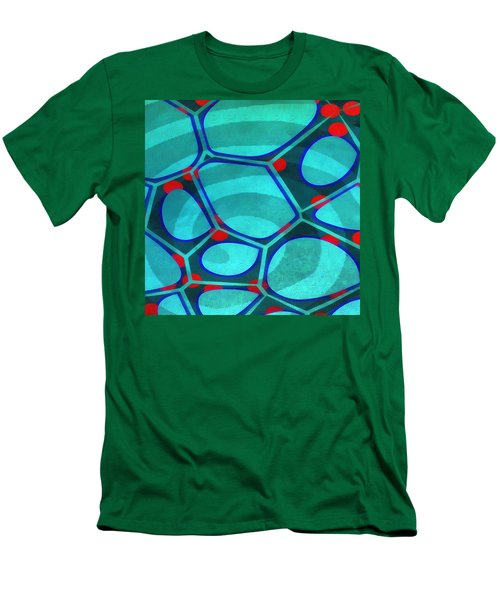 Cell Abstract 6a Men's T-Shirt (Slim Fit) by Edward Fielding