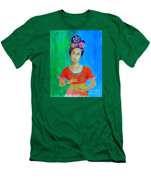 Chinese Dancer -- The Original -- Portrait Of Asian Woman Men's T-Shirt (Athletic Fit)