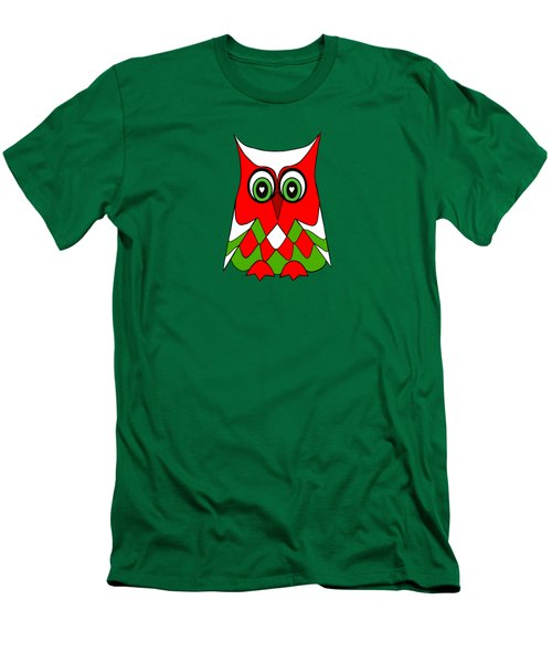 Christmas Owl Men's T-Shirt (Slim Fit)