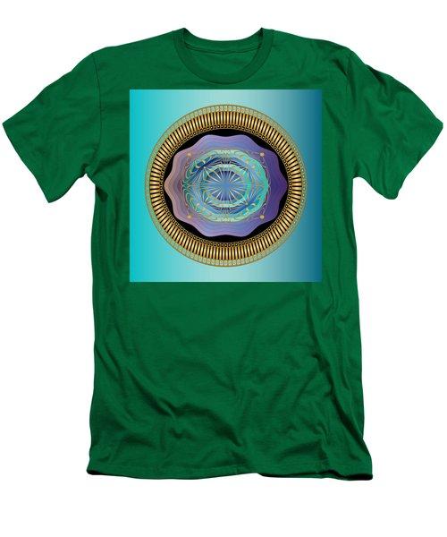 Men's T-Shirt (Slim Fit) featuring the digital art Circularium No 2663 by Alan Bennington