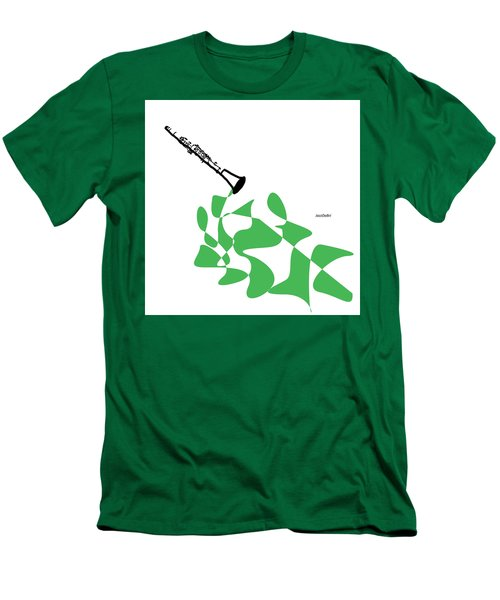 Clarinet In Green Men's T-Shirt (Slim Fit) by David Bridburg