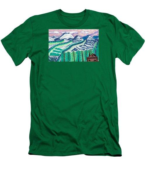 Colorado Cabin Men's T-Shirt (Slim Fit) by Don Koester