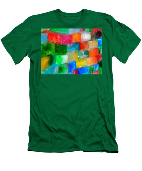 Colored Ice Bricks Men's T-Shirt (Athletic Fit)