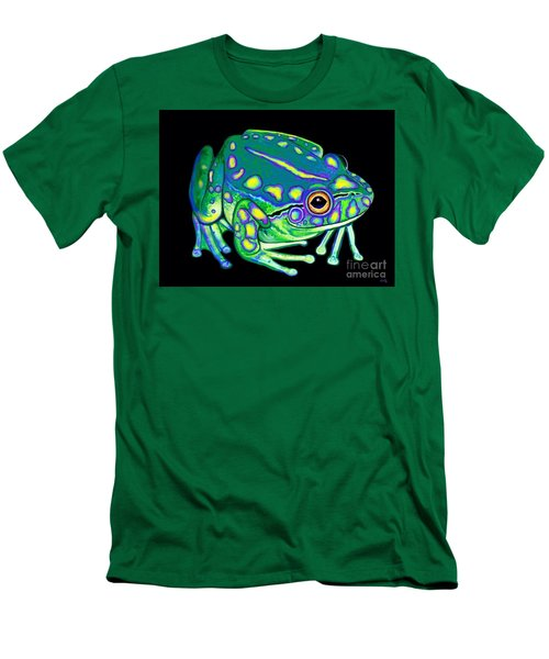 Men's T-Shirt (Slim Fit) featuring the painting Colorful Froggy 2 by Nick Gustafson