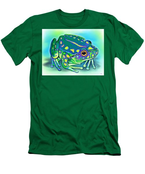 Men's T-Shirt (Slim Fit) featuring the painting Colorful Froggy by Nick Gustafson