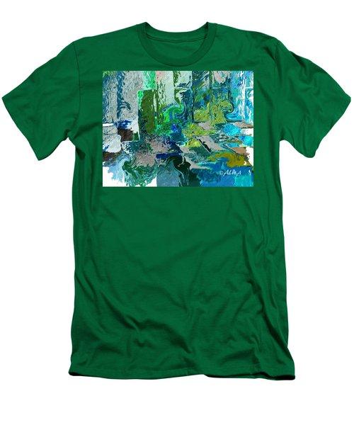 Courtyard Men's T-Shirt (Slim Fit) by Alika Kumar