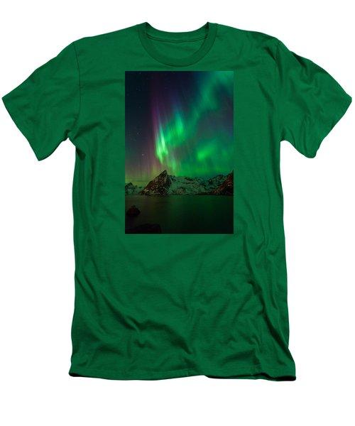 Curtains Of Light Men's T-Shirt (Slim Fit) by Alex Conu