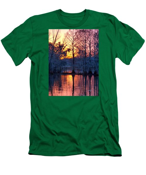 Cypress Sunrise Men's T-Shirt (Slim Fit) by Kimo Fernandez