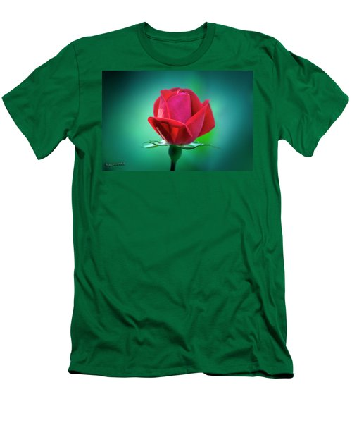 Delicate Rose Petals Men's T-Shirt (Athletic Fit)