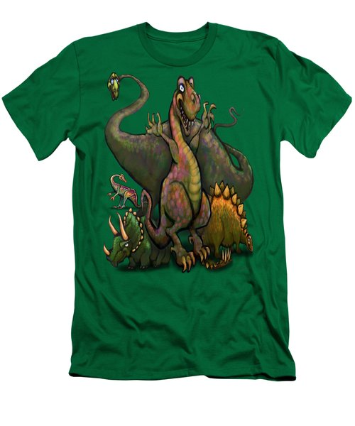 Dinosaurs Men's T-Shirt (Slim Fit) by Kevin Middleton
