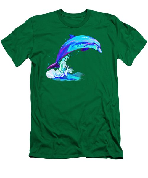 Dolphin In Colors Men's T-Shirt (Slim Fit) by A