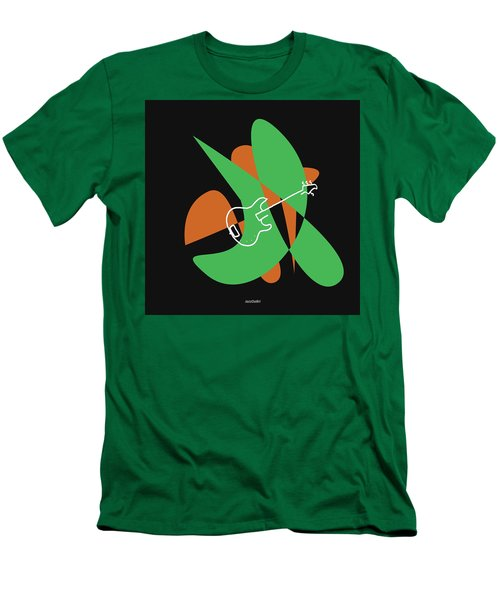Electric Bass In Green Men's T-Shirt (Athletic Fit)