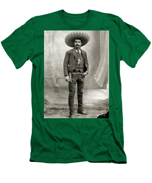 Men's T-Shirt (Slim Fit) featuring the photograph Emiliano Zapata by Roberto Prusso