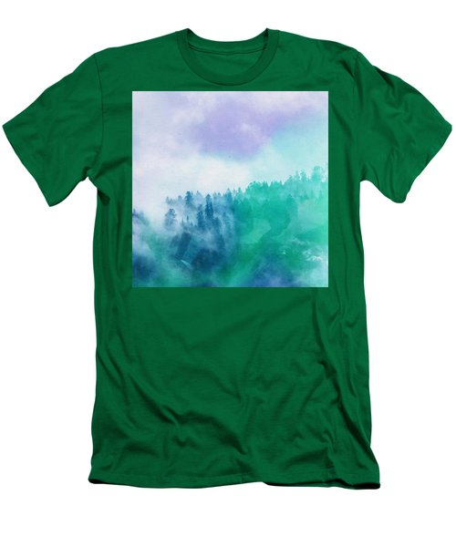 Men's T-Shirt (Slim Fit) featuring the photograph Enchanted Scenery by Klara Acel