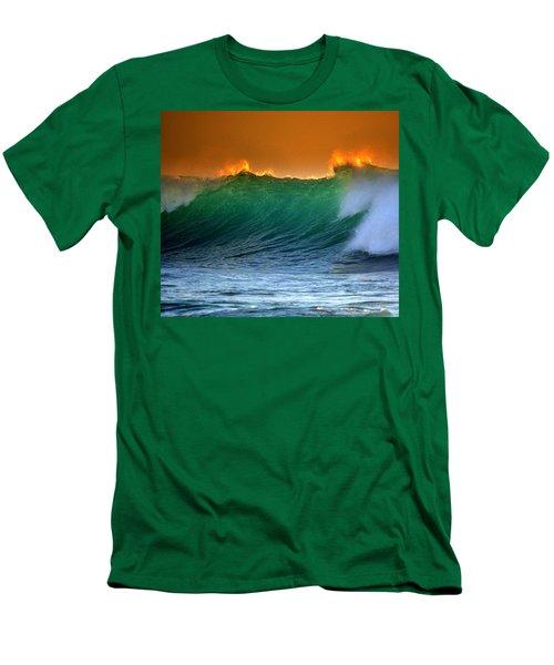 Fire Wave Men's T-Shirt (Slim Fit) by Lori Seaman