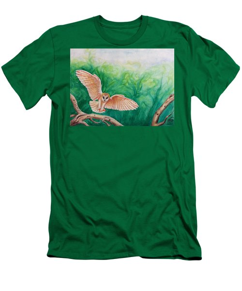 Flying Owl Men's T-Shirt (Slim Fit) by Steed Edwards
