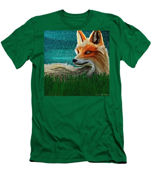 Men's T-Shirt (Athletic Fit) featuring the digital art Foxxy by Iowan Stone-Flowers