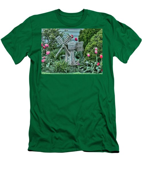 Garden Windmill Men's T-Shirt (Athletic Fit)