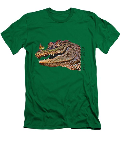 Gator Smile Men's T-Shirt (Slim Fit) by Mitch Spence