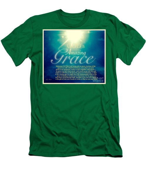 God's Amazing Gift Of Grace Men's T-Shirt (Slim Fit) by Kimberlee Baxter