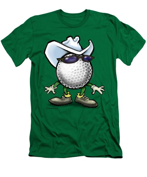 Golf Cowboy Men's T-Shirt (Slim Fit) by Kevin Middleton