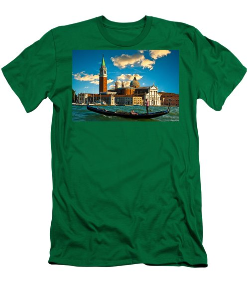 Gondola And San Giorgio Maggiore Men's T-Shirt (Slim Fit) by Harry Spitz