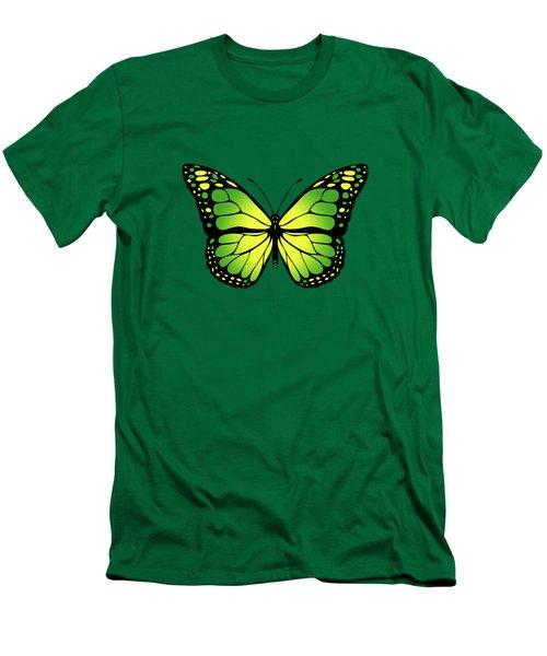 Green Butterfly Men's T-Shirt (Slim Fit) by Gaspar Avila