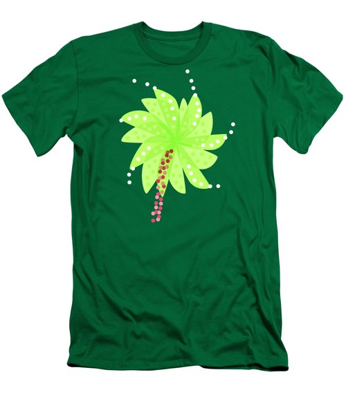 Green Flowers In The Wind Men's T-Shirt (Slim Fit)