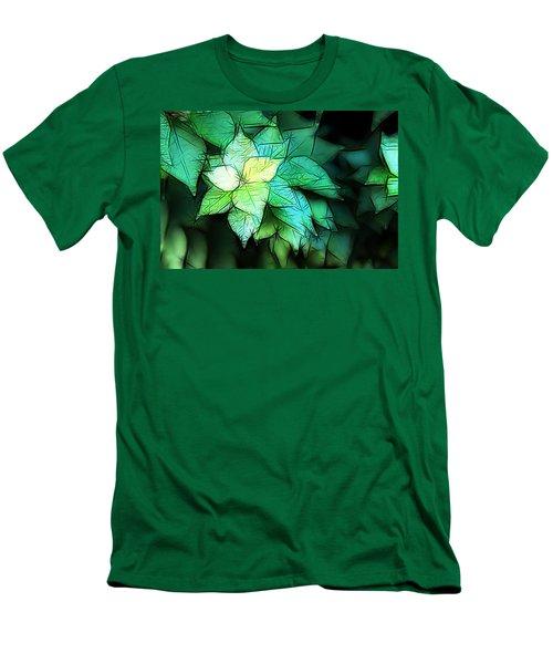 Green Leaves Men's T-Shirt (Slim Fit) by Carol Crisafi