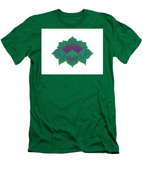 Men's T-Shirt (Athletic Fit) featuring the digital art Green Lotus by Elizabeth Lock