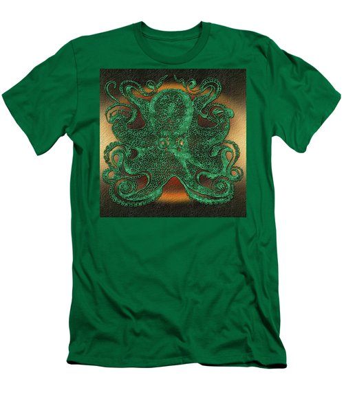 Green Octopus Men's T-Shirt (Athletic Fit)