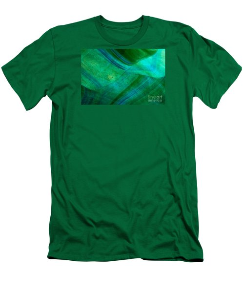 Green Wave Men's T-Shirt (Athletic Fit)