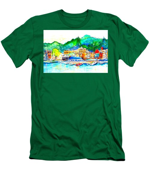Halycon Days At The Blue Water Men's T-Shirt (Athletic Fit)