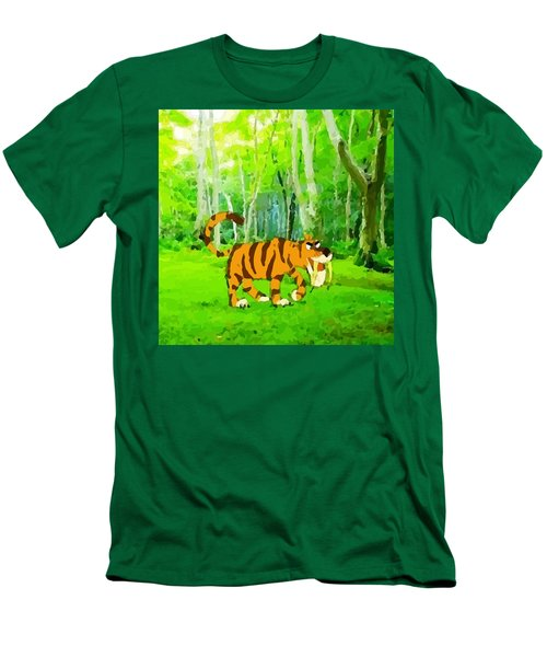 Hungry Tiger In The Jungle Men's T-Shirt (Athletic Fit)