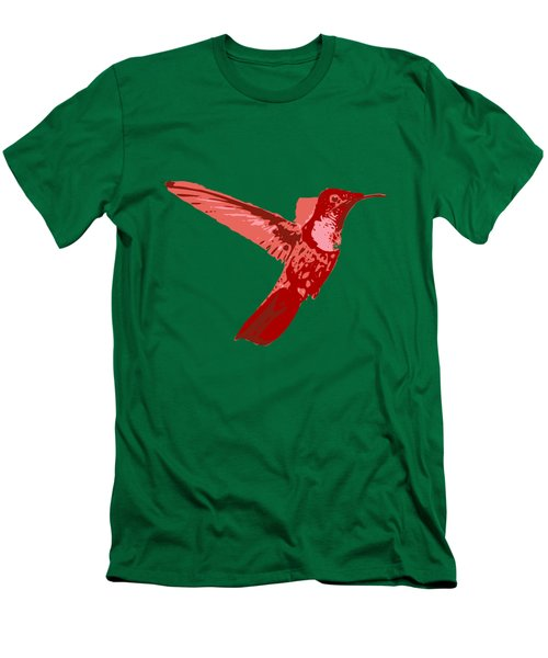 humming bird Contours Men's T-Shirt (Slim Fit) by Keshava Shukla